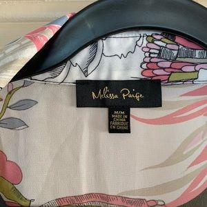 Melissa Paige Tops - Melissa Paige Flowy Floral Button-Down Blouse